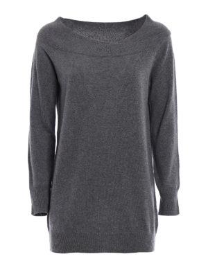 Paolo Fiorillo Capri: boat necks - Double layer neck wool sweater