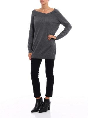 Paolo Fiorillo Capri: boat necks online - Double layer neck wool sweater