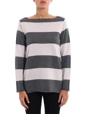 Paolo Fiorillo Capri: boat necks online - Striped wool silk cashmere sweater