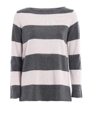 Paolo Fiorillo Capri: boat necks - Striped wool silk cashmere sweater
