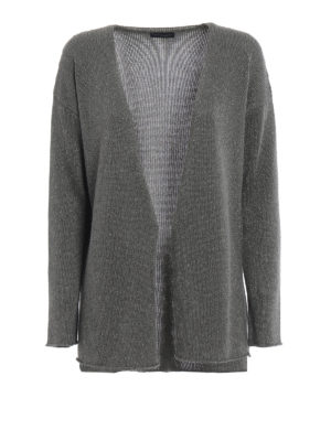 Paolo Fiorillo Capri: cardigans - Grey viscose blend cardigan