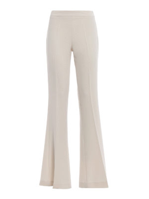 Paolo Fiorillo Capri: casual trousers - Bell bottom white trousers