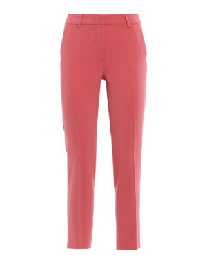 Paolo Fiorillo Capri: casual trousers - Crepe cady cigarette trousers