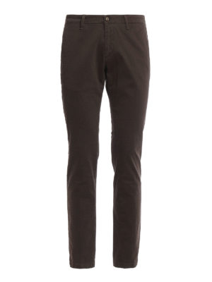 Paolo Fiorillo Capri: casual trousers - Micro patterned slim fit chinos