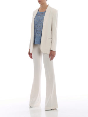 Paolo Fiorillo Capri: casual trousers online - Bell bottom white trousers