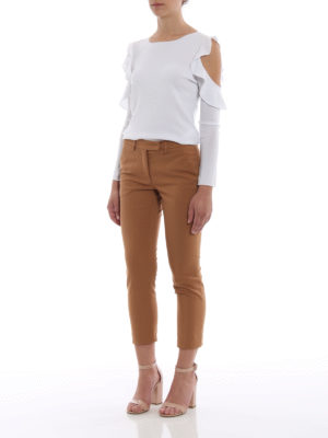 Paolo Fiorillo Capri: casual trousers online - Cotton blend chino trousers