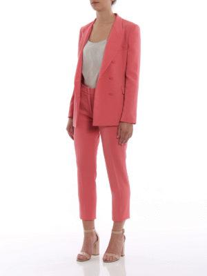Paolo Fiorillo Capri: casual trousers online - Crepe cady cigarette trousers