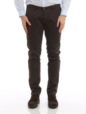 Paolo Fiorillo Capri: casual trousers online - Micro patterned slim fit chinos