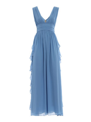 Paolo Fiorillo Capri: cocktail dresses - Light blue frilled empire dress