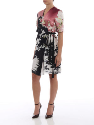 Paolo Fiorillo Capri: cocktail dresses online - Belted print silk satin dress