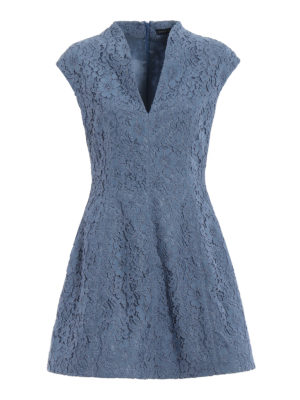 Paolo Fiorillo Capri: cocktail dresses - Powder blue lace flared dress