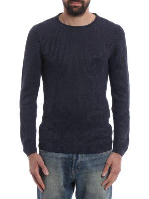 Paolo Fiorillo Capri: crew necks online - Rib knitted linen sweater