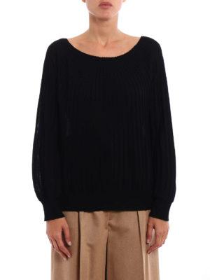 Paolo Fiorillo Capri: crew necks online - Rib knitted merino wool sweater
