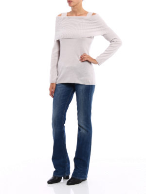 Paolo Fiorillo Capri: crew necks online - Wool blend off the shoulder sweater