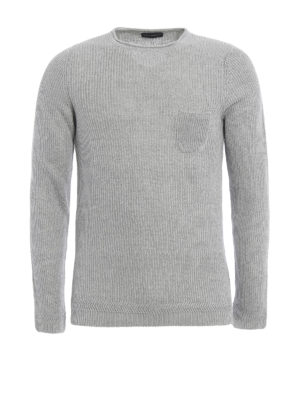 Paolo Fiorillo Capri: crew necks - Rib knitted linen sweater