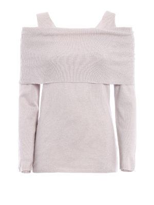 Paolo Fiorillo Capri: crew necks - Wool blend off the shoulder sweater