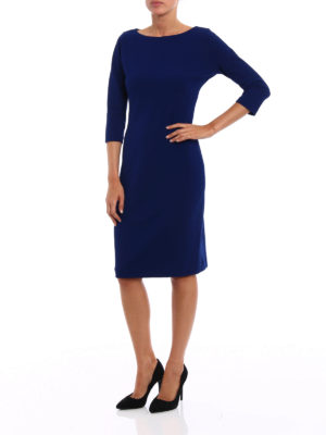 Paolo Fiorillo Capri: knee length dresses online - Jersey crepe sheath dress