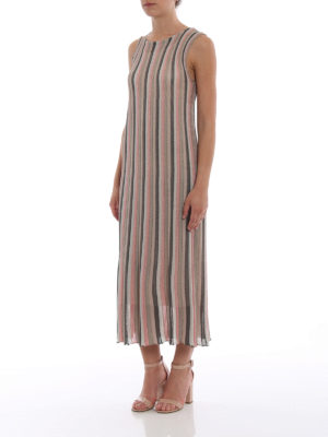 Paolo Fiorillo Capri: maxi dresses online - Striped knitted viscose dress