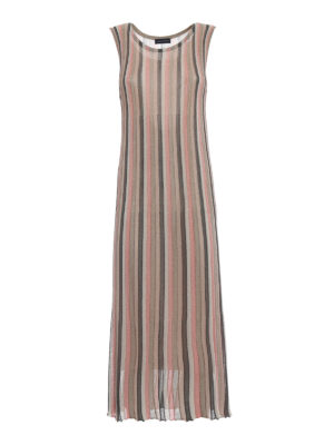 Paolo Fiorillo Capri: maxi dresses - Striped knitted viscose dress
