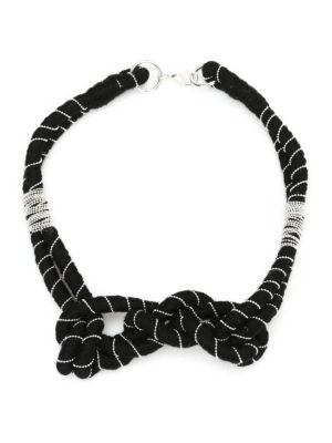 Paolo Fiorillo Capri: Necklaces & Chokers - Embellished wool necklace