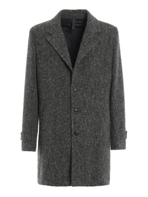 Paolo Fiorillo Capri: short coats - Boucle wool single-breasted coat
