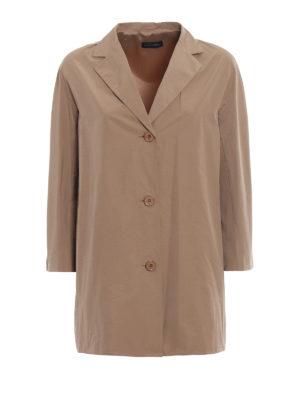 Paolo Fiorillo Capri: short coats - Camel taffeta short coat