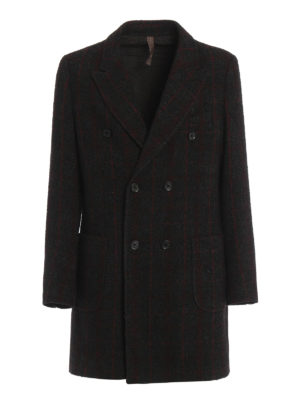 Paolo Fiorillo Capri: short coats - Check wool double-breasted coat