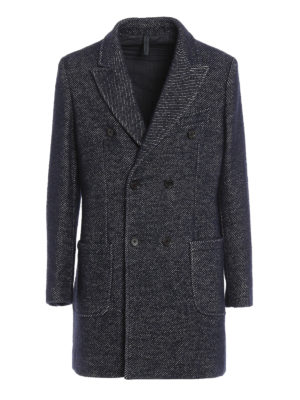 Paolo Fiorillo Capri: short coats - Jacquard wool double-breasted coat