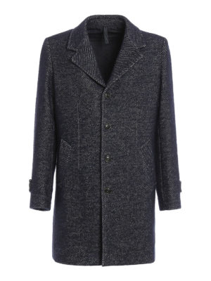 Paolo Fiorillo Capri: short coats - Jacquard wool single-breasted coat