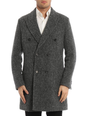 Paolo Fiorillo Capri: short coats online - Boucle wool double-breasted coat