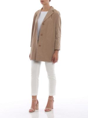 Paolo Fiorillo Capri: short coats online - Camel taffeta short coat