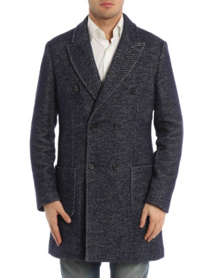 Paolo Fiorillo Capri: short coats online - Jacquard wool double-breasted coat