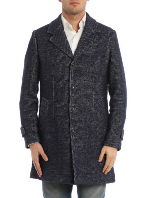Paolo Fiorillo Capri: short coats online - Jacquard wool single-breasted coat
