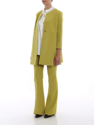Paolo Fiorillo Capri: short coats online - Lime dust coat