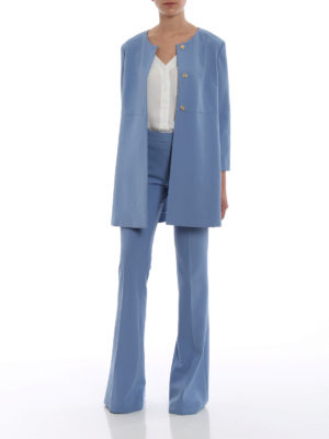 Paolo Fiorillo Capri: short coats online - Powder blue dust coat