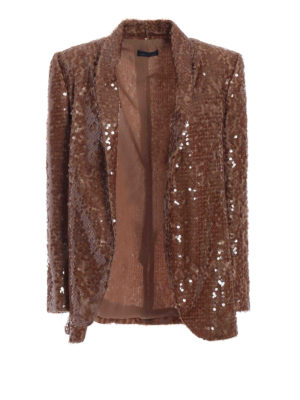 Paolo Fiorillo Capri: Tailored & Dinner - Bronze sequined shawl collar blazer