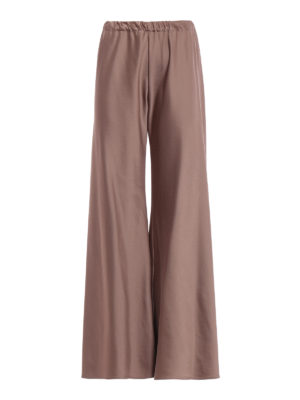 Paolo Fiorillo Capri: Tailored & Formal trousers - Bronze satin palazzo trousers