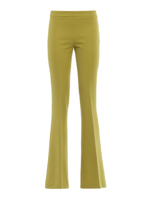 Paolo Fiorillo Capri: Tailored & Formal trousers - Lime flared trousers