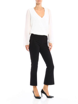 Paolo Fiorillo Capri: Tailored & Formal trousers online - Cady crop trousers