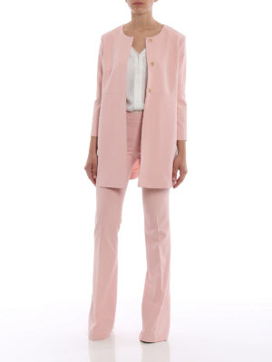Paolo Fiorillo Capri: Tailored & Formal trousers online - Pink flared trousers