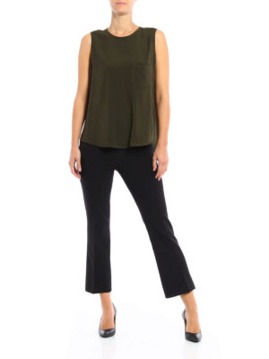 Paolo Fiorillo Capri: Tops & Tank tops online - Pocket detailed cady tank top