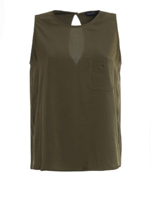 Paolo Fiorillo Capri: Tops & Tank tops - Pocket detailed cady tank top