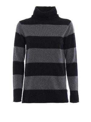 Paolo Fiorillo Capri: Turtlenecks & Polo necks - Striped wool blend turtleneck