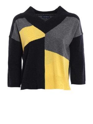 Paolo Fiorillo Capri: v necks - Colour block wool blend sweater
