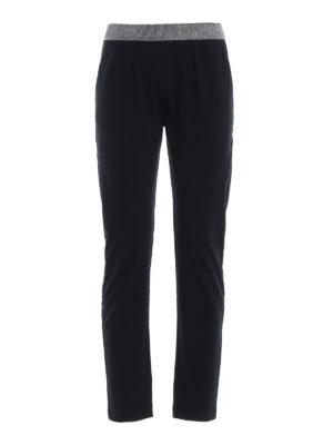 Paolo Fiorillo: pantaloni casual - Pantalone crop pull on