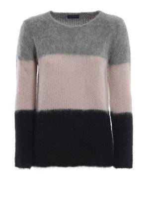 Paolo Fiorillo: maglia collo rotondo - Girocollo in misto alpaca a blocchi di colore