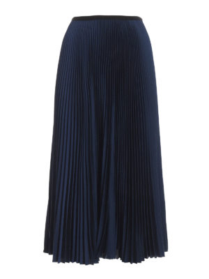 Paolo Fiorillo: Knee length skirts & Midi - Pleated twill skirt