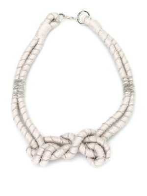 Paolo Fiorillo: Necklaces & Chokers - Embellished wool necklace