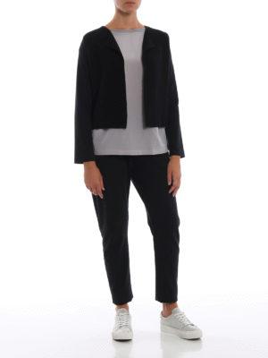 Paolo Fiorillo: cardigan online - Cardigan corto con maniche in cotone stretch