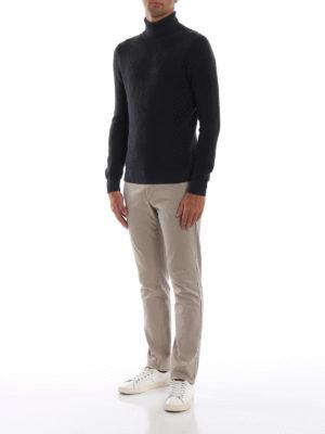 Paolo Fiorillo: maglia a collo alto e polo online - Dolcevita in pura lana a maglia inglese